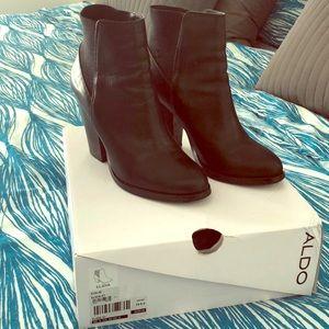 Aldo Elidia black leather ankle boots